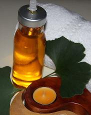 Kerze, Öl, mobile Massage