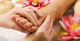 Fußmassage, Relax Zeit, Blumen